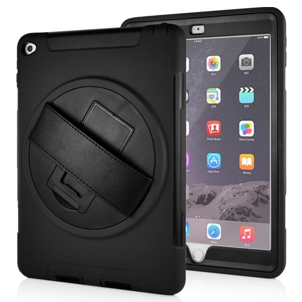Stand Back Case with Belt for iPad Air 2 - Black, IPD6-BELT-67378
