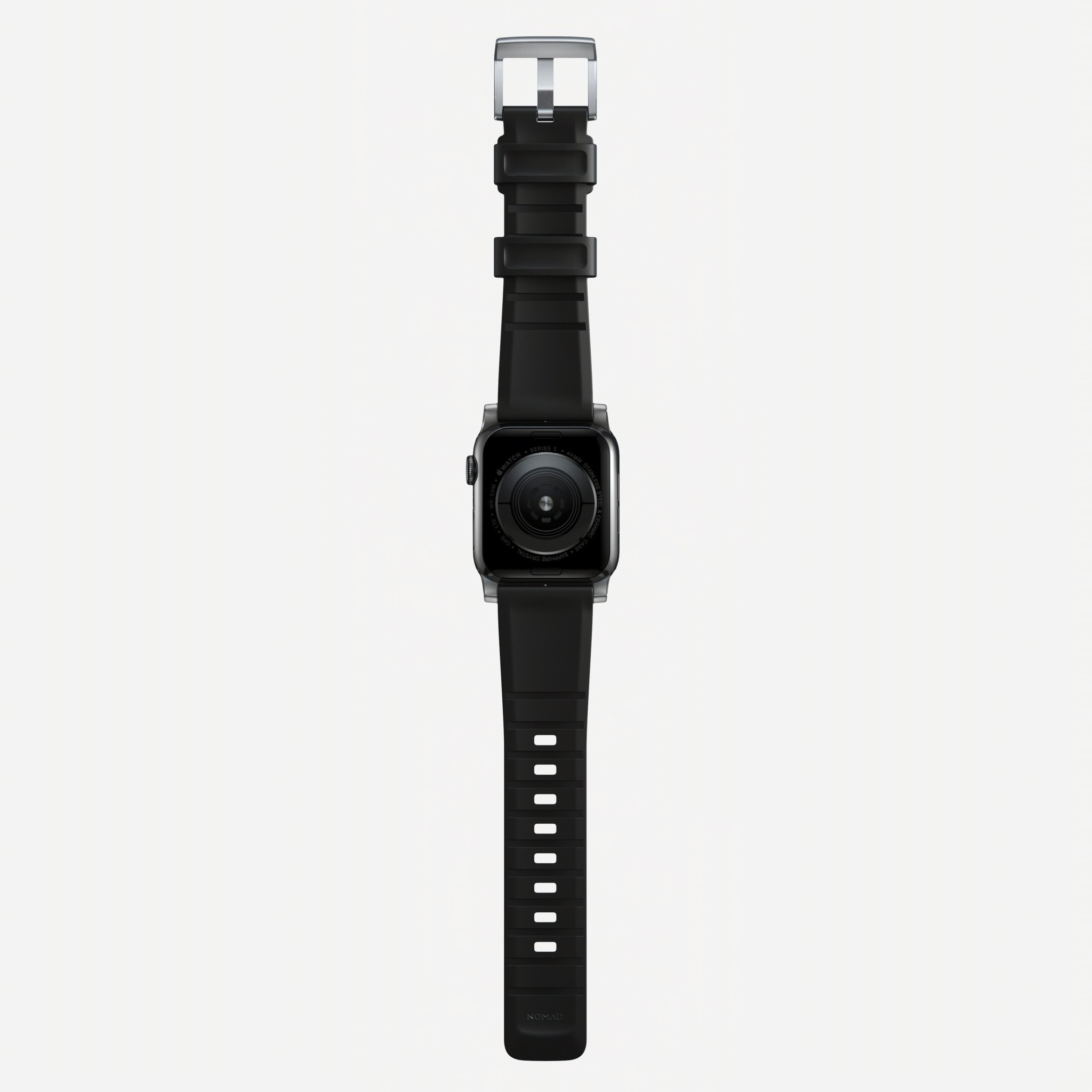 Nomad - Rugged Strap for Apple Watch 42/44mm - Silver hardware, NM1A41SN00