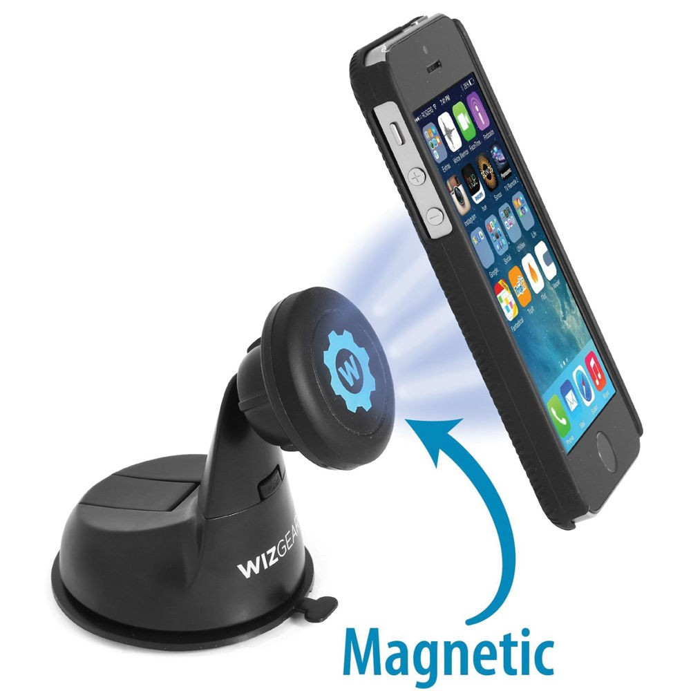 WizGear Universal Magnetic Car Dashboard and Windshield Mount for Smartphones, WG-MDCM
