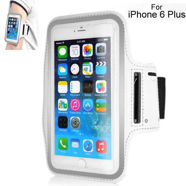 Armband for iPhone 6 Plus 5.5 inch - White, IPH6+ARM-64847