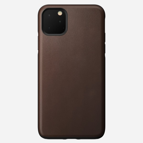 Nomad - Leather Case - Rugged - iPhone 11 Pro Max - Rustic Brown, NM21YR0R00