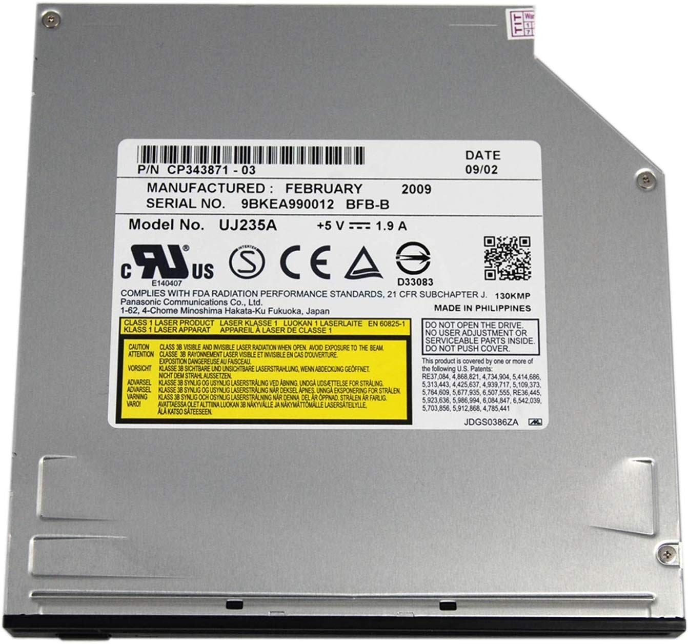 Panasonic Internal Blu-ray Player / SuperDrive for iMac and Mac Mini, PANUJ235
