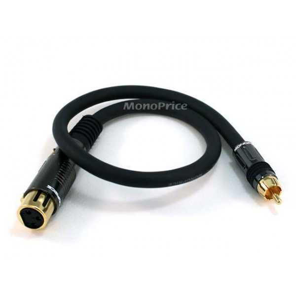 45cm Premier Series XLR Female to RCA Male 16AWG Cable (Gold Plated), XLR-RCA-4783
