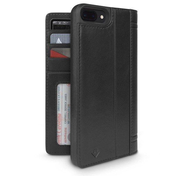 Twelve South Journal for iPhone 8 Plus/7 Plus/6S Plus - Black, 12-1665