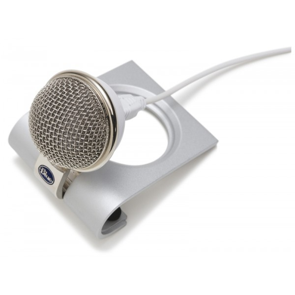 Blue Microphone's Snowflake USB mic is perfect for podcasting, voice recognition software, iChat, and VoIP software such as Skype and Vonage.