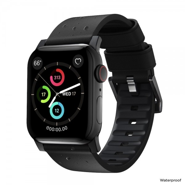 Nomad - Active Strap Pro - Apple Watch 44/42mm - Black - Black Hardware, NM1A41BNW0