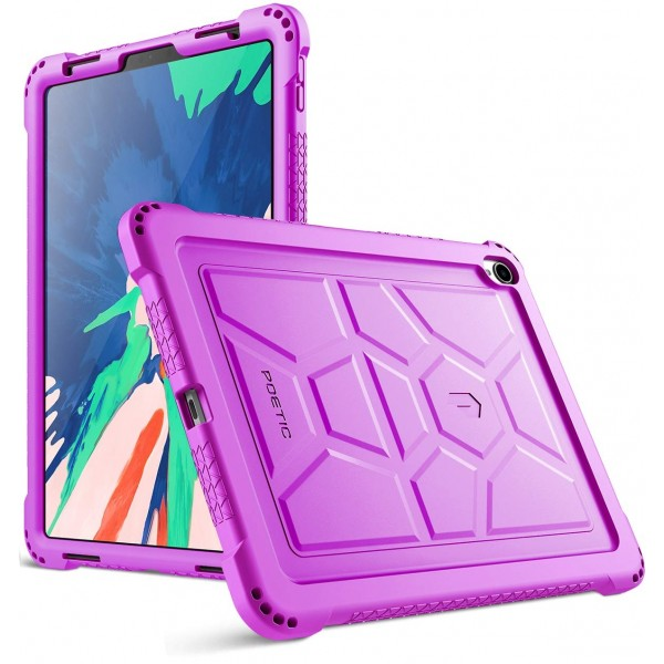 Poetic TurtleSkin Series Protective Silicone Case for Apple iPad Pro 11 Inch (2018) [Not Supported Apple Pencil Magnetic Attachment] - Purple, B07GD4CZ52