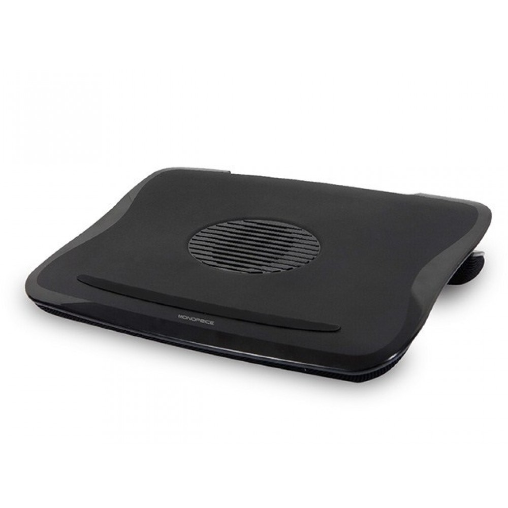 Cushioned Laptop Cooler w/ Built-in 80mm Fan - Black, COOL-9944