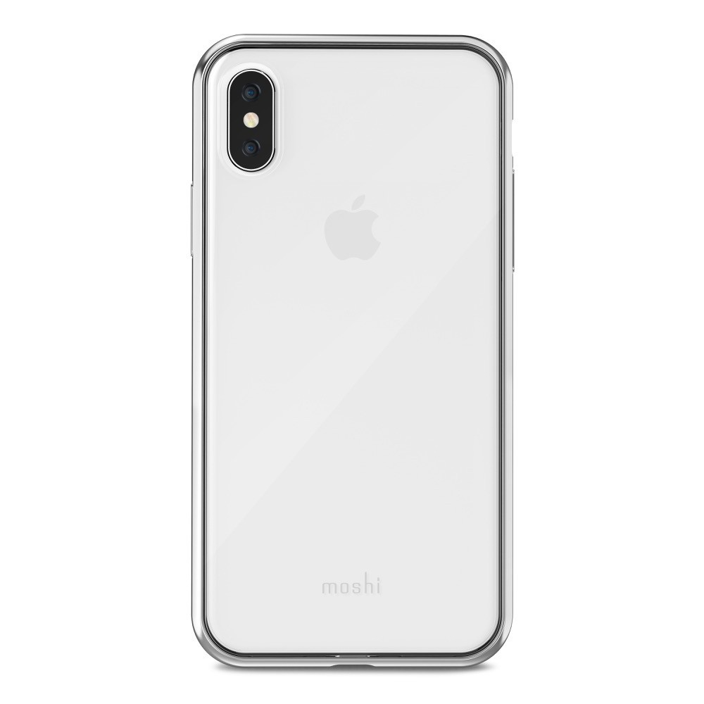 MOSHI Vitros for iPhone X/Xs Clear Protective Case - Jet Silver, 99MO103201