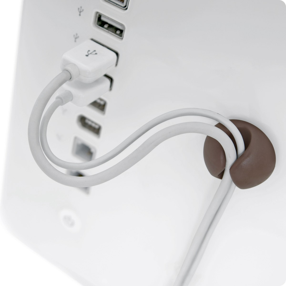 Bluelounge CableDrop - Cable Clips - Muted Colours, CD-MT