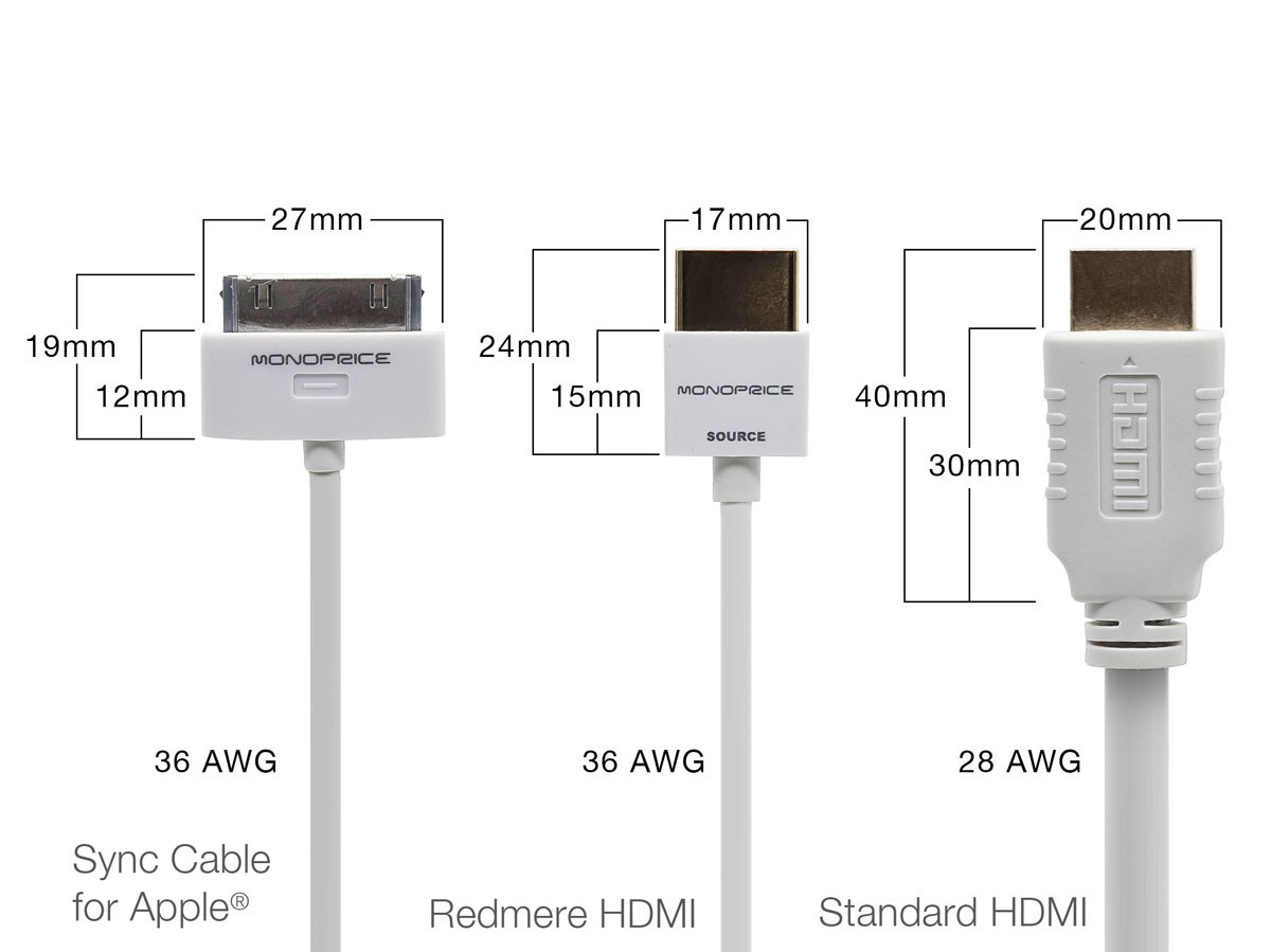 3m Ultra Slim Series High Performance HDMI Cable w/ RedMere Technology - White, HDMICAB-10FT-9428
