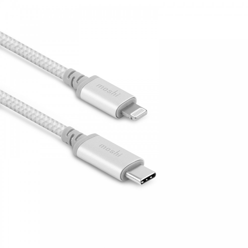 Moshi Integra USB-C Charge/Sync Cable with Lightning Connector (1.2 m) - Silver, 99MO084105