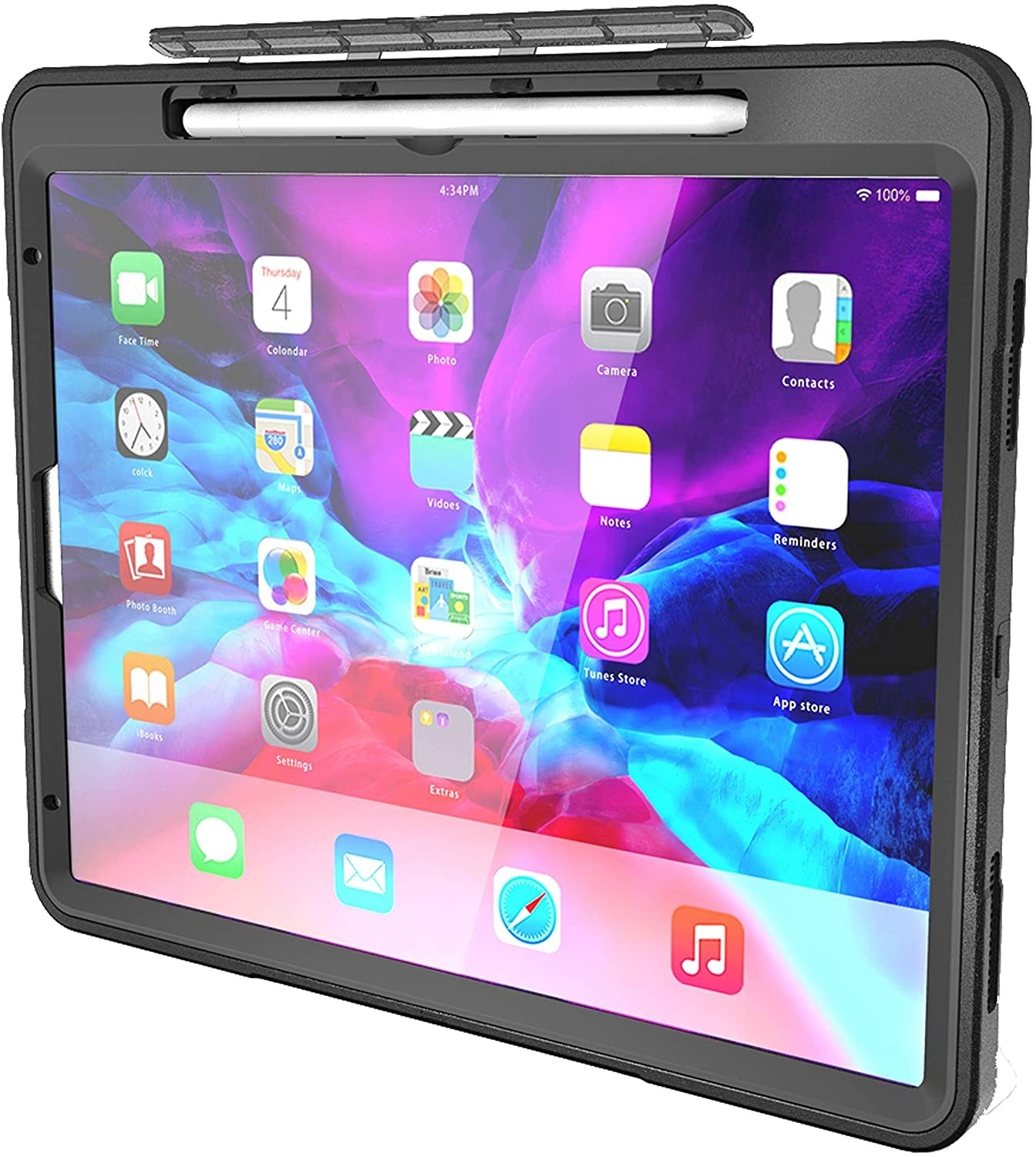 New Trent Ipad Pro 12 9 Case 2020 For Ipad Pro 12 9 Case 4th Generation Full Body Rugged Kickstand Ipad 12 9 2020 Case With Rotational Hand Strap Apple Pencil Holder Built In Screen Protector