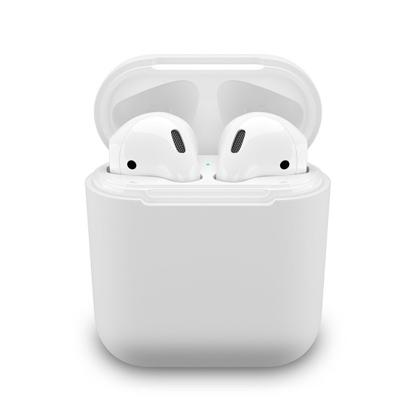 PodSkinz Protective Silicone Cover and Skin for Apple Airpods 1 and Airpods 2 Charging Case - Clear, B01N5SHLOX