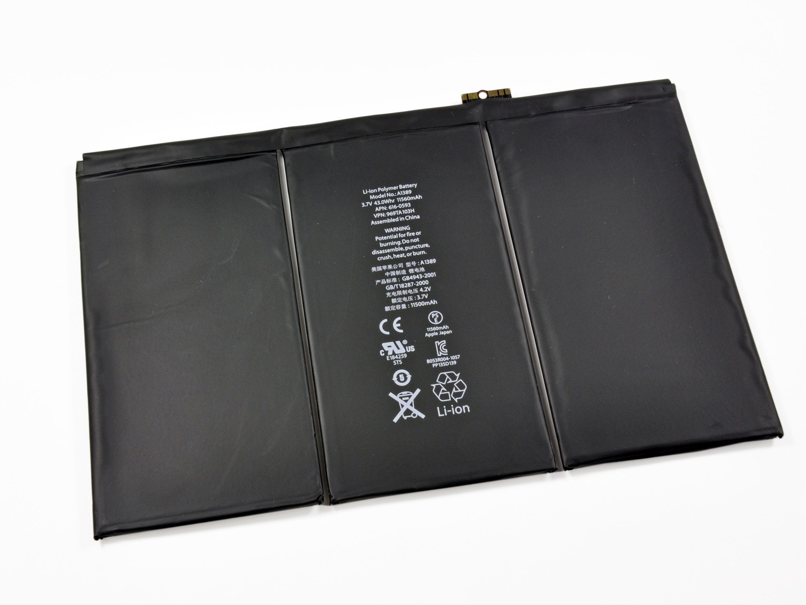 iPad 3/4 Battery, Part Only, New, IF116-001-1