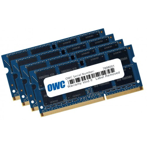 16.0GB (4 x 4.0GB) OWC PC10600 DDR3 1333MHz SO-DIMM 204 Pin RAM