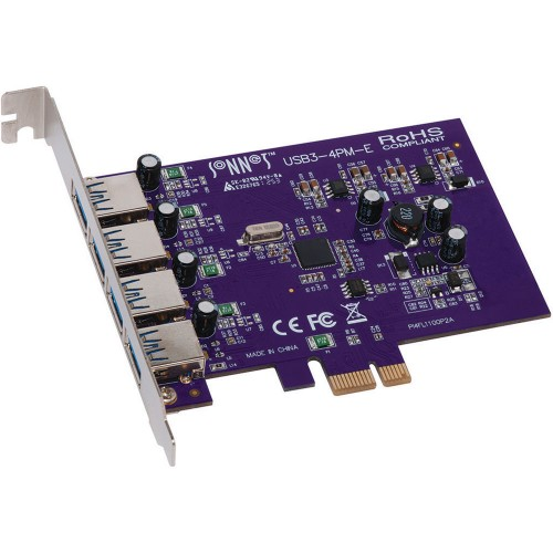 Sonnet USB3-4PM-E Allegro 4-Port USB 3.0 PCI Express Card For Mac Pro - MacOS X Mojave Compatible