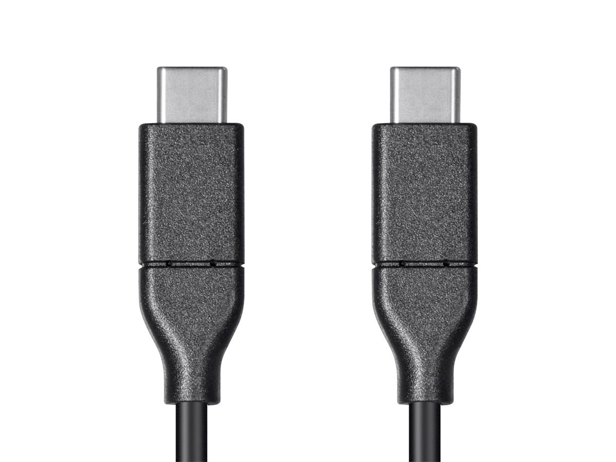 Monoprice Essentials USB Type C to Type C 2.0 Cable - 480Mbps, 5A, 26AWG, 4m - Black, 24283