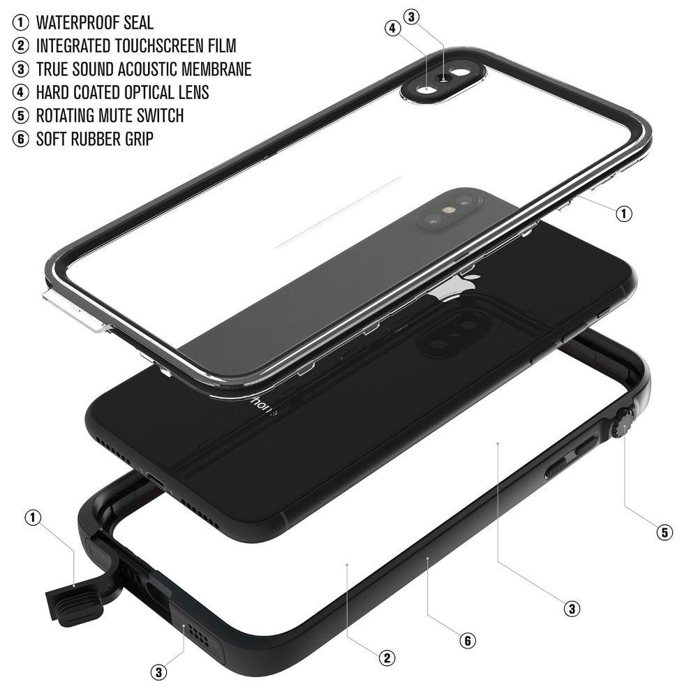 Catalyst Waterproof Case for iPhone Xs Max - Black, CATIPHOXBLKL
