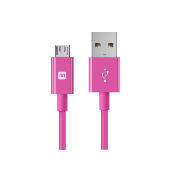 Select Series USB A to Micro B Charge & Sync Cable 10ft Pink, 13937
