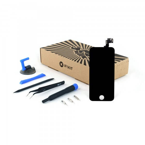 iFixit iPhone 5s LCD Screen and Digitizer Full Assembly, New, Fix Kit - Black, IF124-000-11