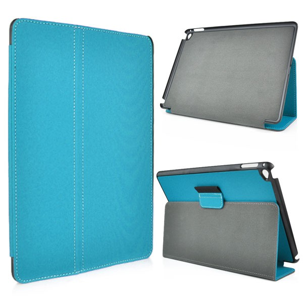 Leather Flip Case for iPad Air 2 - Blue, IPD6-FLIP-65959