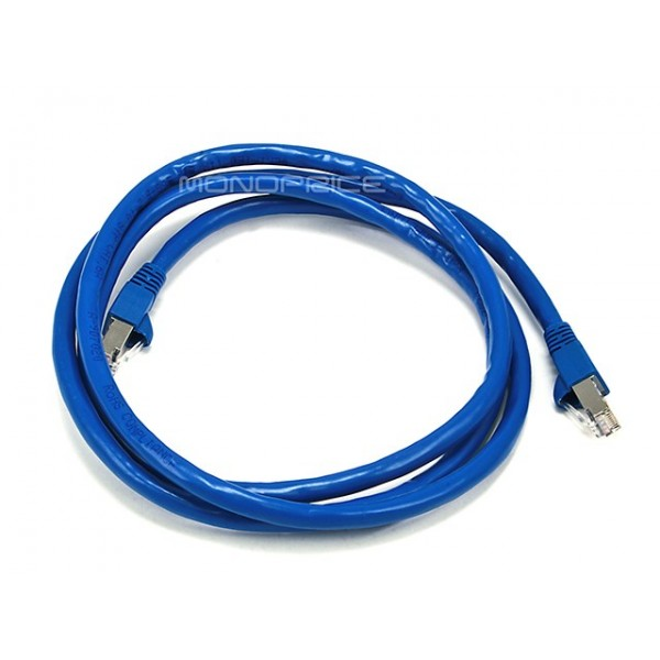 1.5m 24AWG Cat6A 500MHz STP Ethernet Bare Copper Network Cable - Blue, ETH-5900