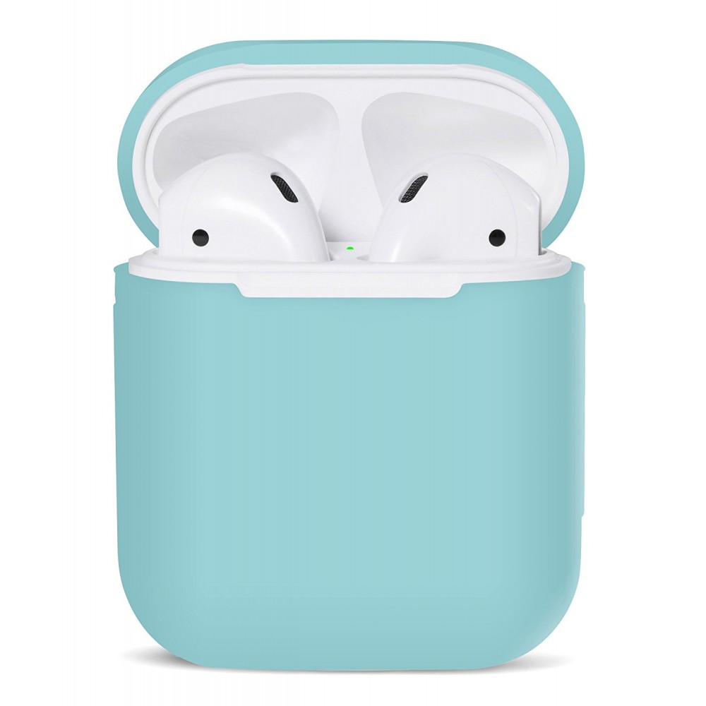 PodSkinz Protective Silicone Cover and Skin for Apple Airpods 1 and Airpods 2 Charging Case - Diamond Blue, B06XG6P444
