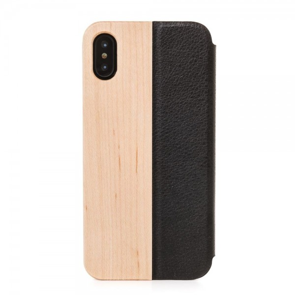 Woodcessories EcoFlip Casefor iPhone X/XS - Maple, eco208