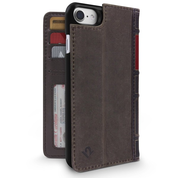 Twelve South BookBook for iPhone 8/7/6S - Brown, 12-1658
