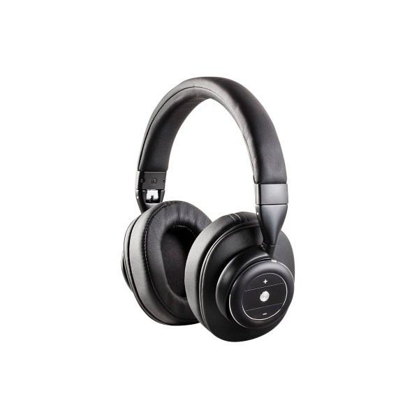 Monoprice SonicSolace Active Noise Cancelling Bluetooth Wireless Over Ear Headphones - Black , 16219