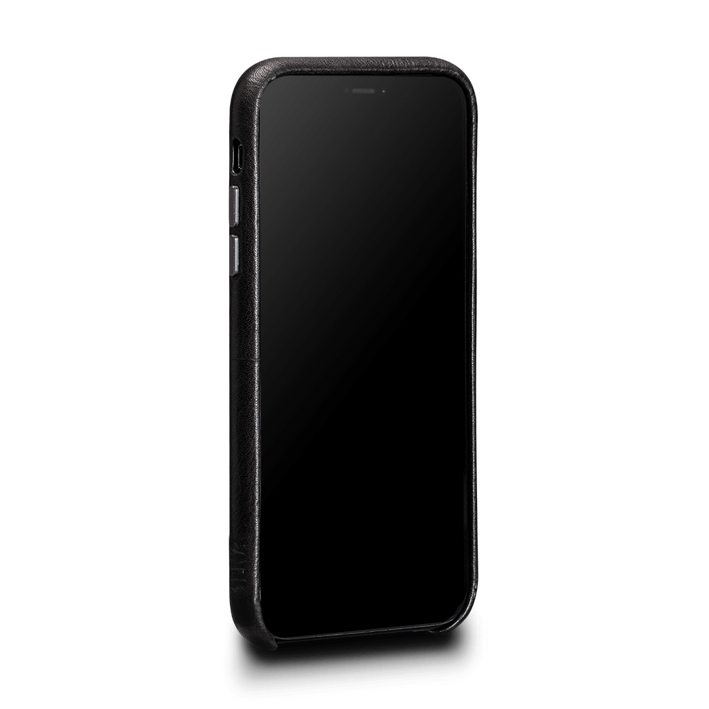 Sena Deen Snap-on Leather Wallet case for iPhone XR - Black, SFD377NPUS