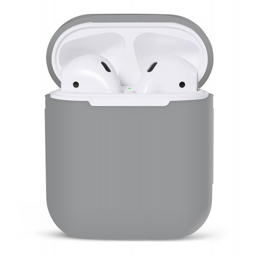 PodSkinz Protective Silicone Cover and Skin for Apple Airpods 1 and Airpods 2 Charging Case - Earl Gray
