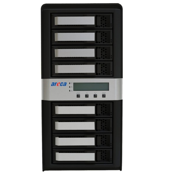 Areca ARC-8050T3 8-Bay Thunderbolt 3 RAID Storage Enclosure, AREARC8050T38