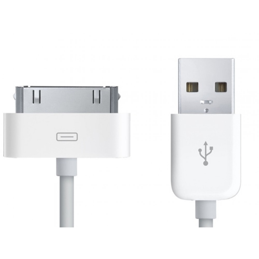 Micro Accessories Dock Connector to USB Cable 3ft White (approx 1 metre)