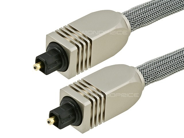 3.6m Premium Optical Toslink Cable w/ Metal Fancy Connector, TOS-2765