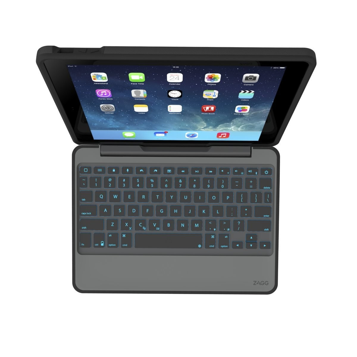 Zagg Rugged Book Keyboard And Case For Ipad Air 2 Black