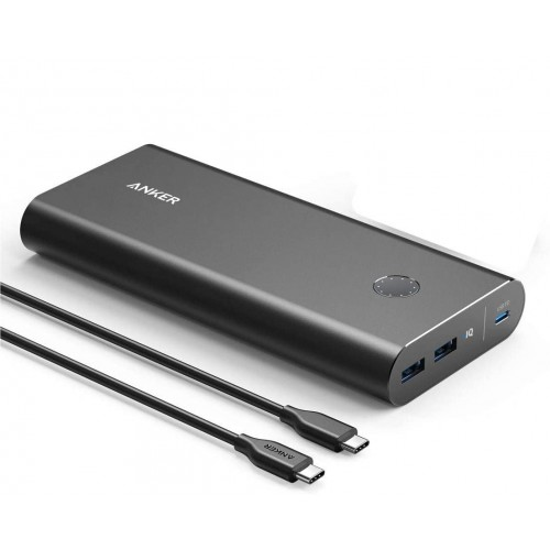 ANKER PowerCore+ 26800 PD 45W with PD Charger - Black Metal