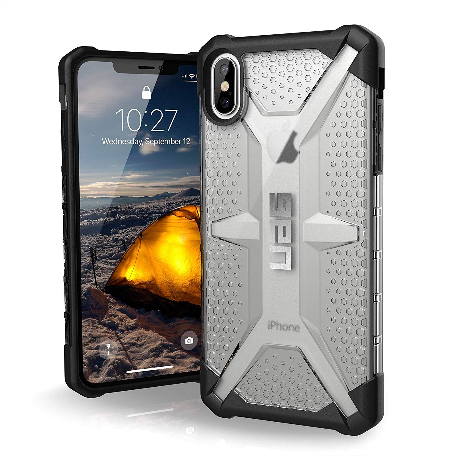 Urban Armor Gear iPhone Xs Max Plasma Feather-Light Rugged Military Drop Tested iPhone Case - Ice, 111103114343