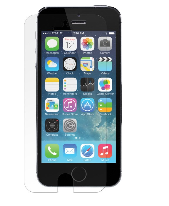NewerTech KXs Impact X-Orbing Screen Armor for iPhone 5S/5C/5 - Full Size, IP5-SCR-KXS-FS
