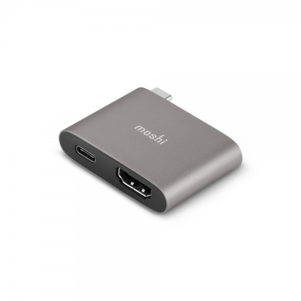 Moshi USB-C to HDMI Adapter w/ Charging - Grey, 99MO084272
