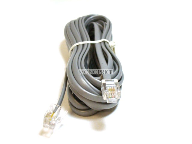Phone Cable, RJ11 (6P4C), Straight - 4,2m for data, RJ11-930