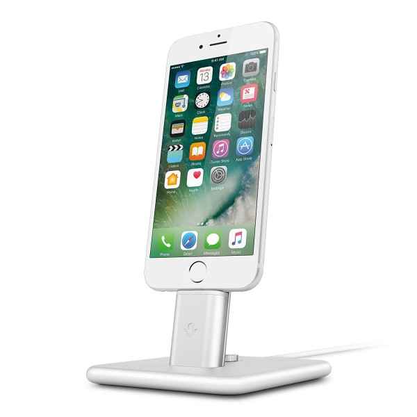 Twelve South HiRise Deluxe 2 for iPhone & iPad - Silver, 12-1626