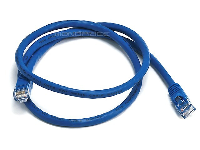 0.9m 24AWG Cat6 550MHz UTP Ethernet Bare Copper Network Cable - Blue, ETH-2114