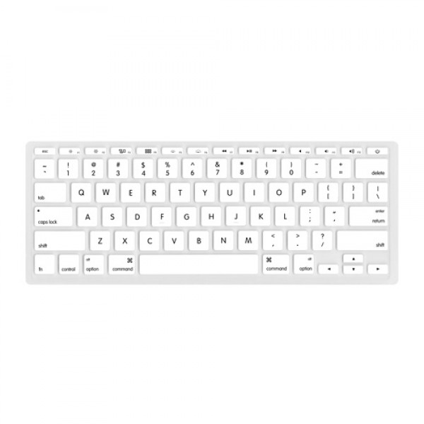 "NewerTech NuGuard Keyboard Cover for all 2011-2016 MacBook Air 11"" models - White, NWTNUGKBA1211W"