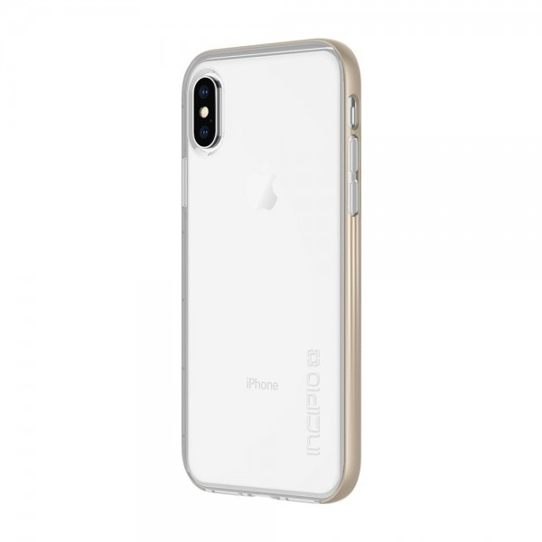 Incipio Octane LUX Translucent Protective Case for iPhone X/Xs - Gold, IPH-1639-CHM