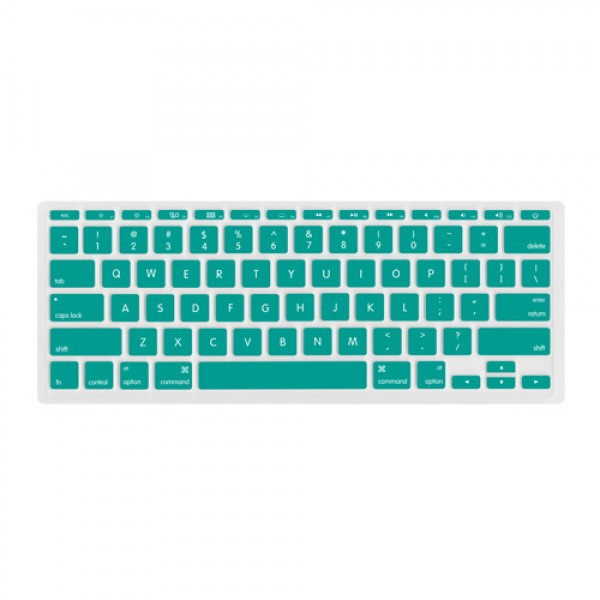 "NewerTech NuGuard Keyboard Cover for all 2011-2016 MacBook Air 11"" models - Teal, NWTNUGKBA1211LB"