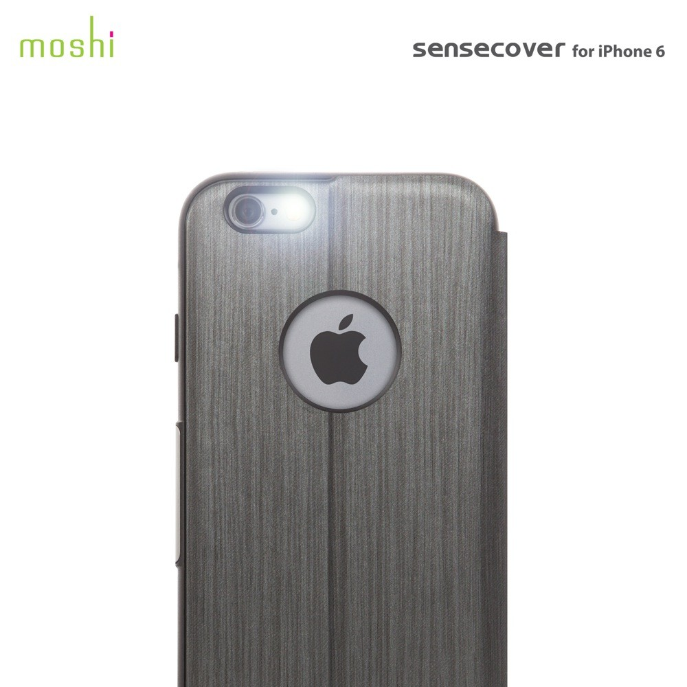 Moshi - SenseCover Touch Sensitive Hard Cover for iPhone 6/6S - Steel Black, IPH6-SEN-BK