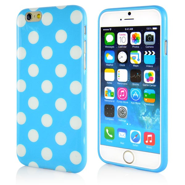 """Dot Pattern Case for iPhone 6 4.7"""" - Blue, DOT-IPH6-64640"""