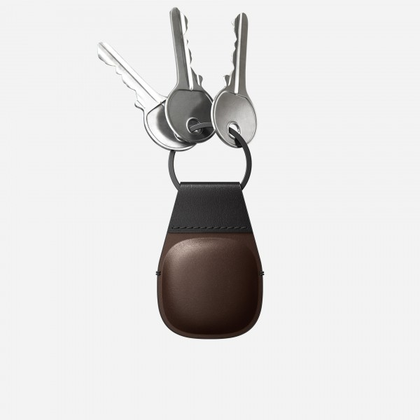 Nomad - AirTag Leather Keychain - Brown, NM01011385